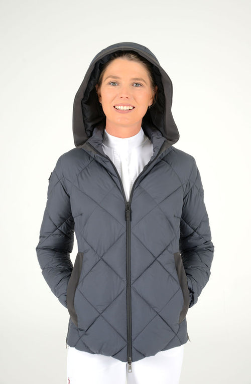 Cavalleria Toscana - Quilted Nylon Hooded Puffer - Steel Grey