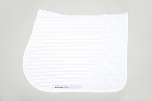 CT Quilted Insert Jumping Saddle Pad - White