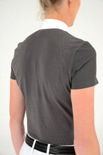 Cavalleria Toscana - Laser Perforated Tech Knit S/S Competition Polo - Smokey Grey