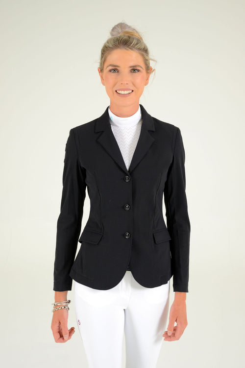 Cavalleria Toscana All-over Perforated Competition Jacket - Black