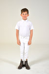 Elastic Band Polo - White