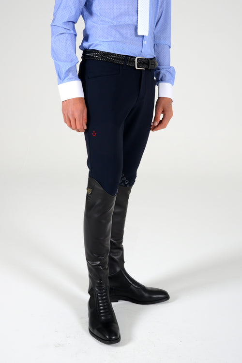 Cavalleria Toscana Men's New Grip System Breeches - Navy
