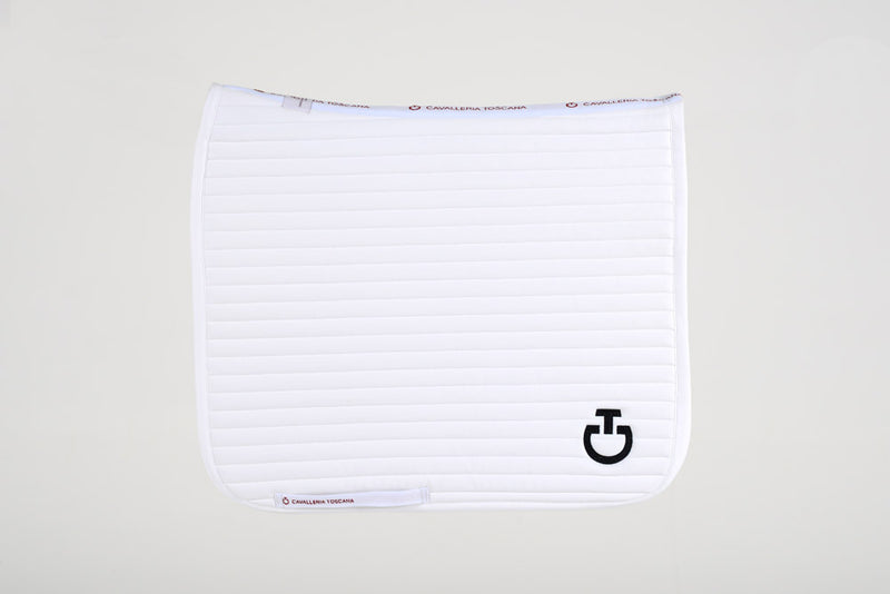 Cavalleria Toscana - Quilted Row Jersey Dressage Saddle Pad - White
