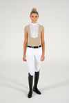 Cavalleria Toscana - Tech Shirt with Bib S/S - Light Beige