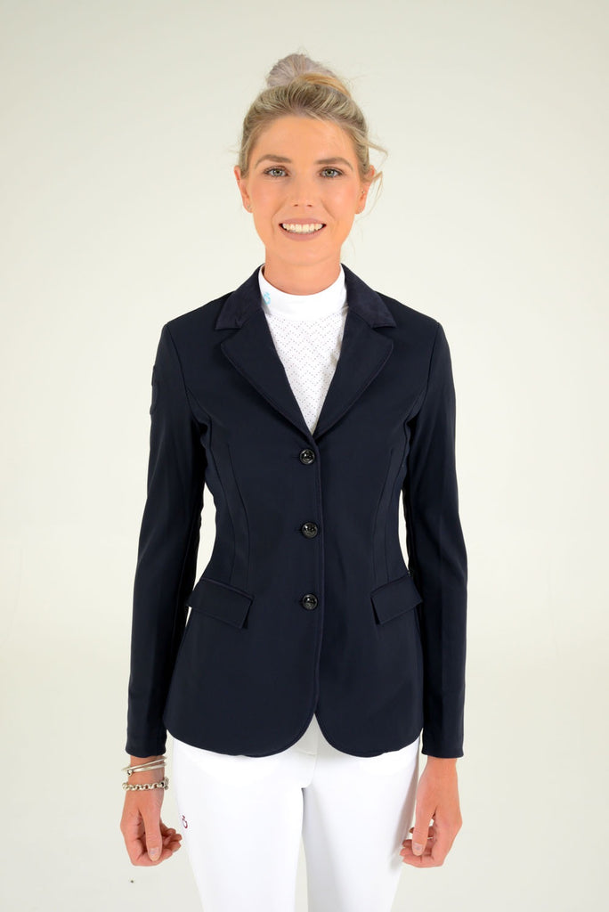 GP Perforated Riding Jacket - Navy
