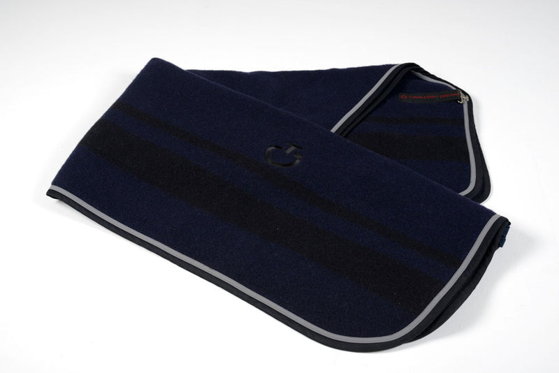 CT Jersey Stripe Wool Rug - Navy/Black