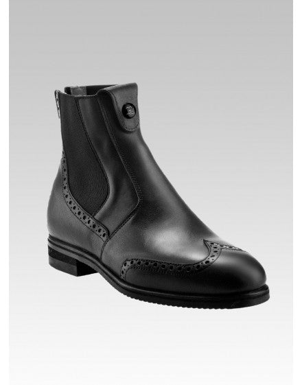 Tucci Marilyn Black Short Boots - Punched Leather