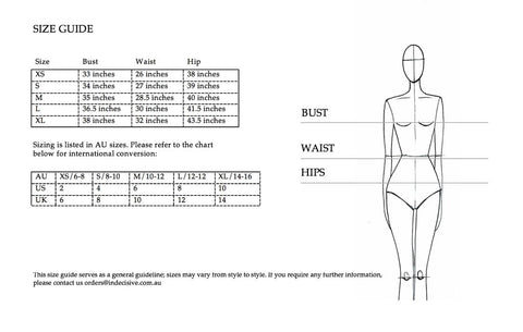 Thread Harvest - Ethical Fashion - Indecisive The Label Size Guide