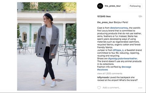 Emma Watson - The Press Tour Instagram Account - Ethical Fashion - Thread Harvest