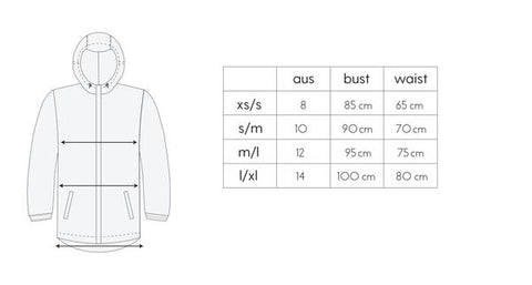 Size Guide - Team Timbuktu - Jacket