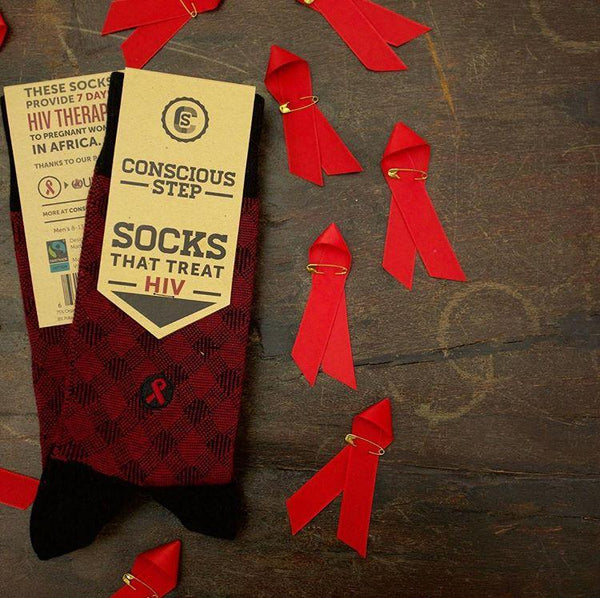 Socks That Fight Aids - Crosshatch