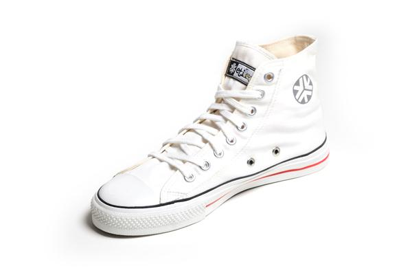 Organic Fairtrade Sneakers Hitops White