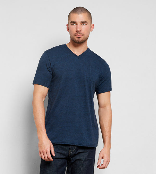 Triblend V-Neck Tee - Navy