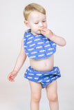 Baby - Navy Blue Fish Culotte