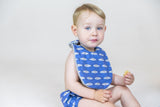 Baby - Navy Blue Fish Bib