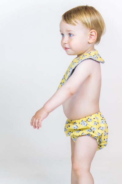 Baby - Yellow Fish Culotte