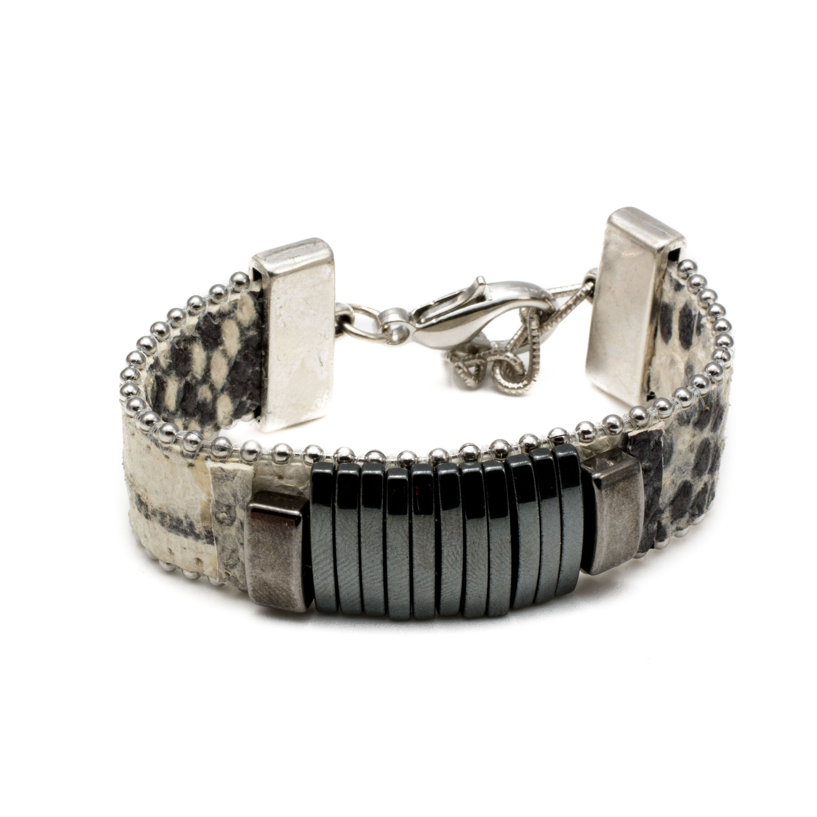 and bracelet king silver product charm bangles designs front with kathryn black wrap bangle leather