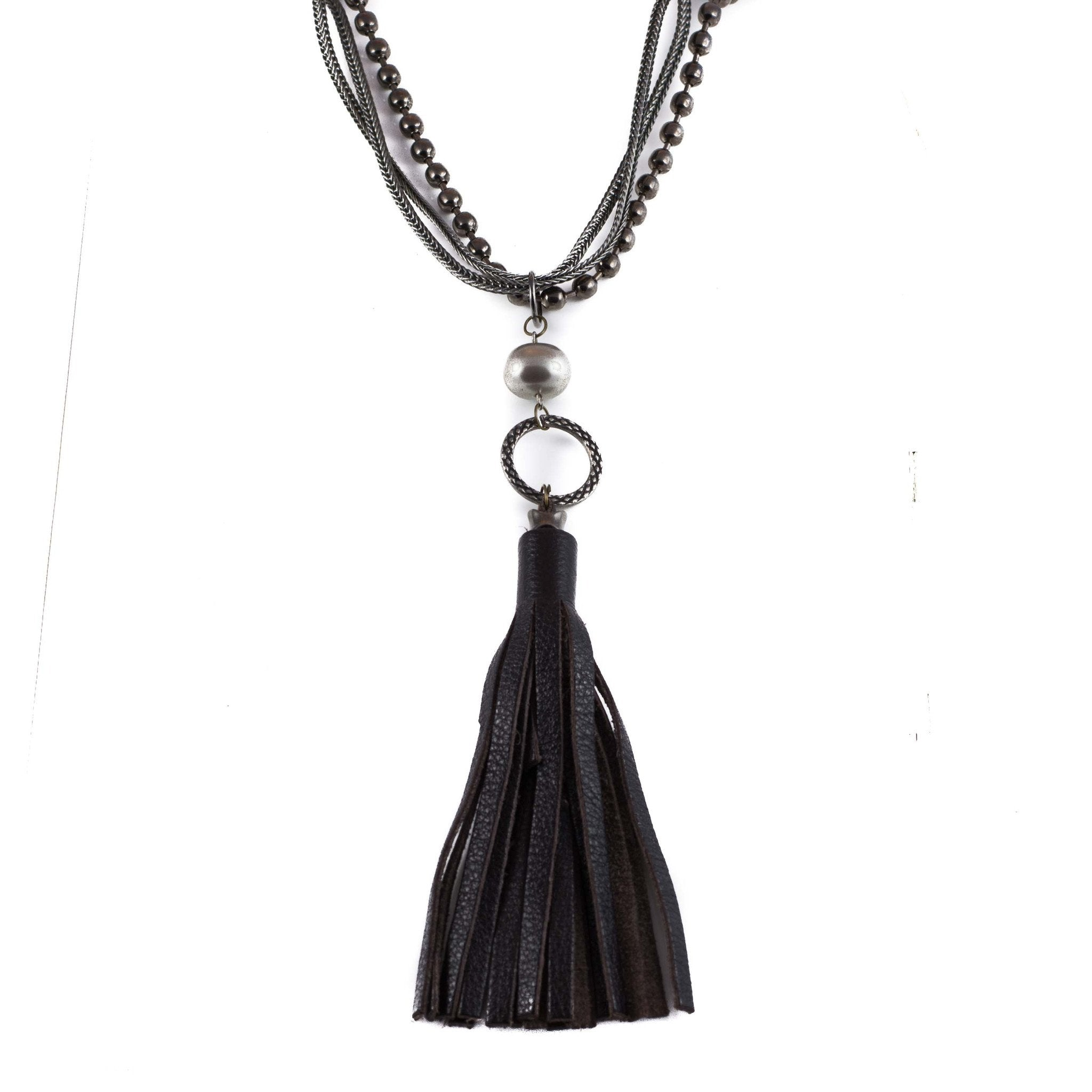 salt agate necklace img pines products tassel