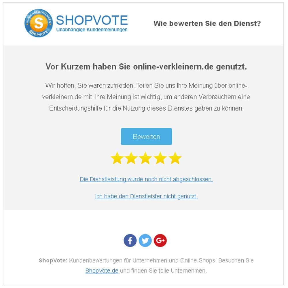 Shopvote-Integration