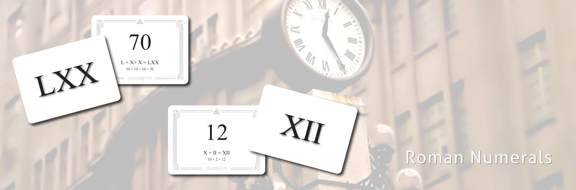 Roman Numeral flashcards