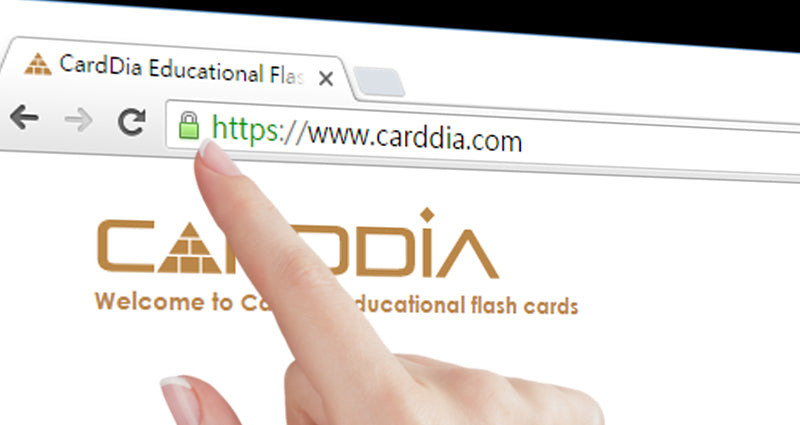 CardDia Flashcards secured SSL