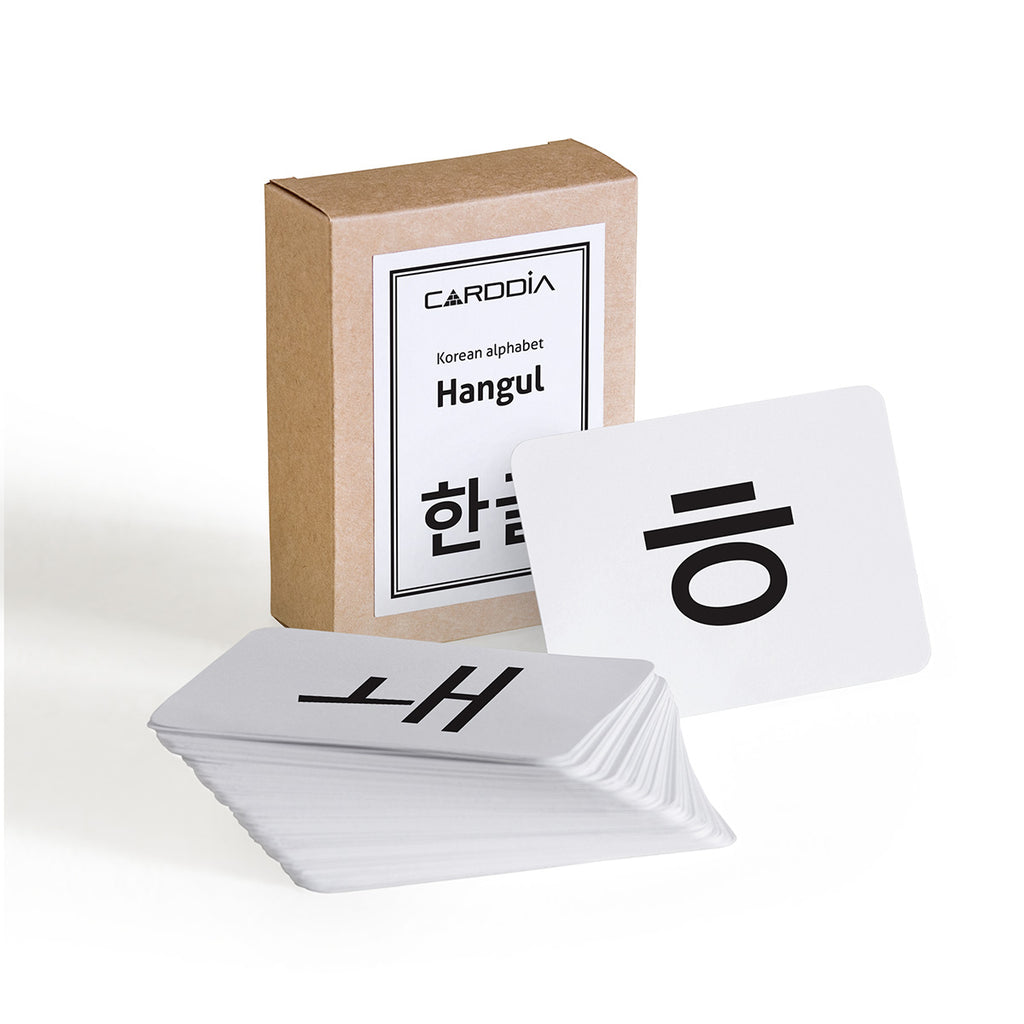 Korean alphabet Hangul flash cards