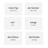 German Vocabulary for Beginners (Illustrations - with example sentences)
