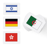 Printable flag flashcards