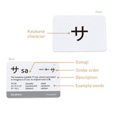 Japanese Syllabary - Katakana (with stroke-order diagrams and example words)
