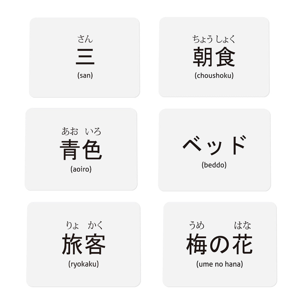 Japanese Vocabulary flashcards for beginners