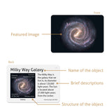 Solar System objects, stars and galaxies