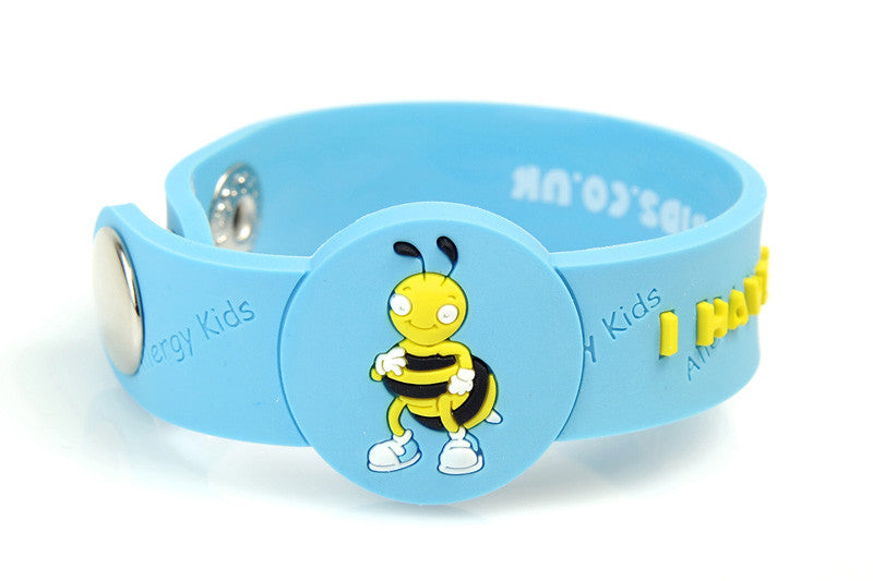 """I Have A Bee Sting Allergy"" alert Wristband - allergypunk - 1"