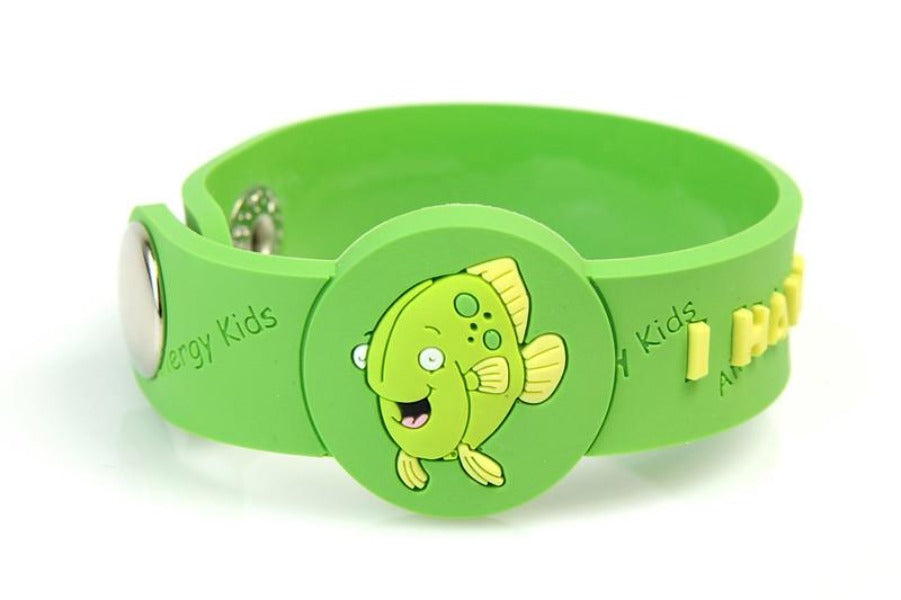 """I Have A Fish Allergy"" Wristband - allergypunk - 1"