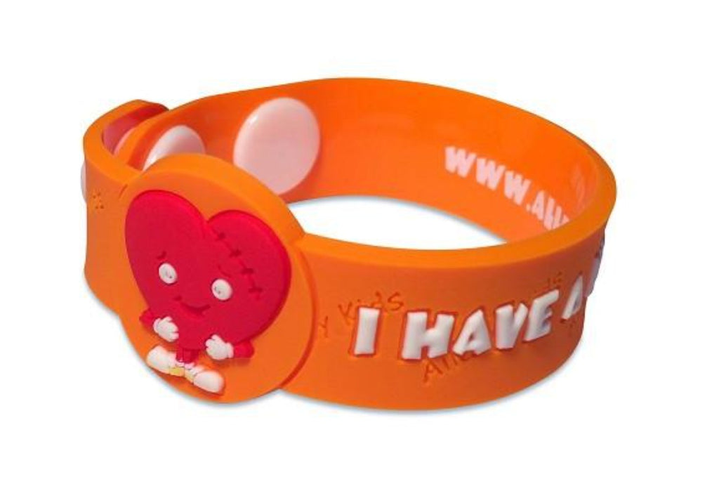 """I Have a Heart Condition"" - Alert Wristband - allergypunk"
