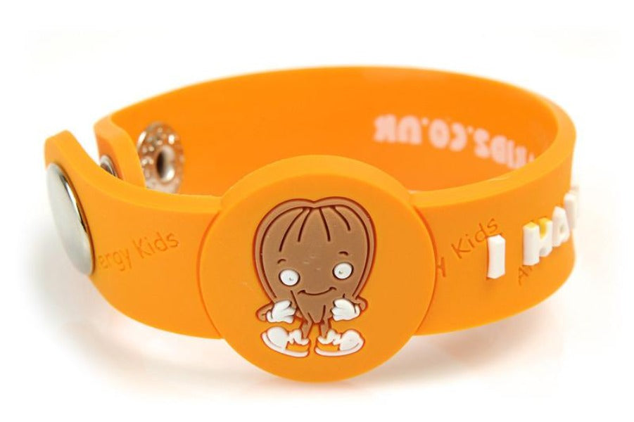 """I Have A Nut Allergy"" Wristband - allergypunk - 1"