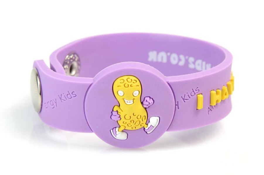 """I Have A Peanut Allergy"" Alert Wristband - allergypunk - 1"