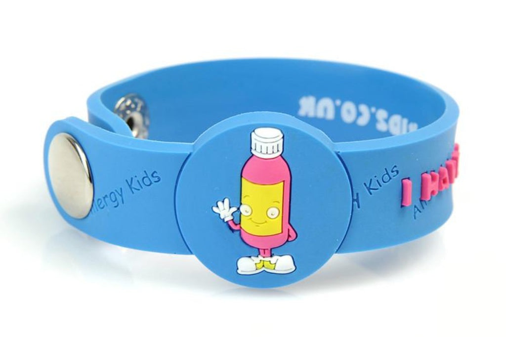 """I Have A Penicillin Allergy"" medical alert bracelet for kids - allergypunk"