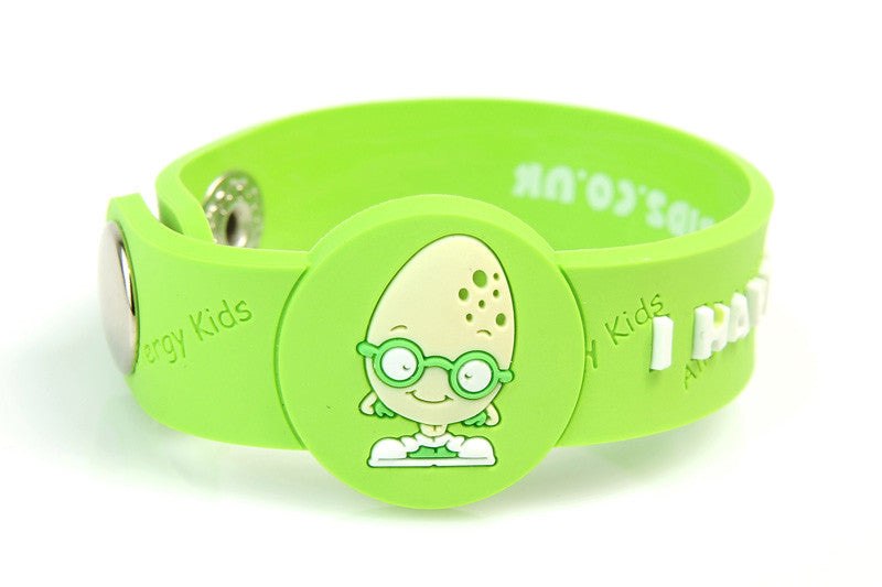 """I Have An Egg Allergy"" Alert Wristband - allergypunk"