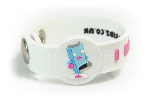 """I Have Asthma"" - PINK - Alert Wristband"