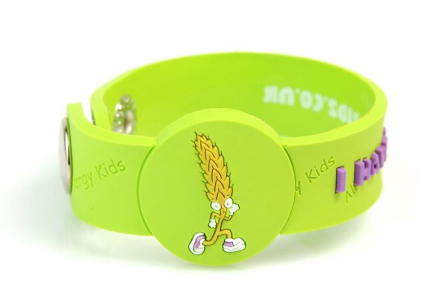 """I Have A Wheat Allergy"" Alert Wristband - allergypunk - 1"