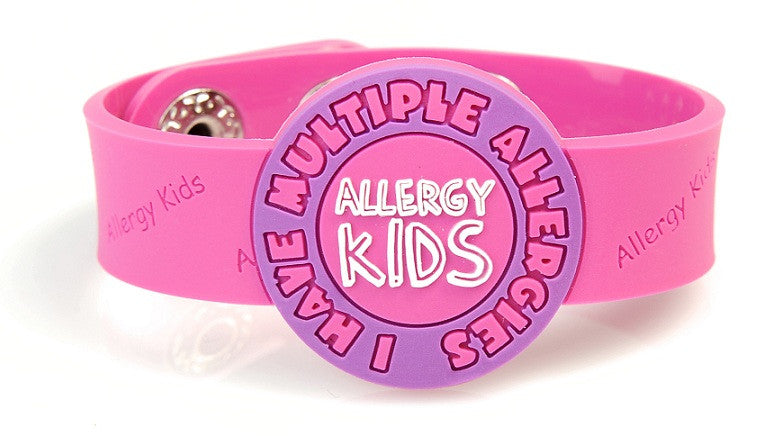 PINK Multiple allergy kids wristband - allergypunk - 1