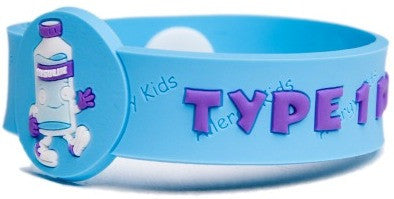 """Type 1 Diabetes"" Awareness Wristband - allergypunk - 1"