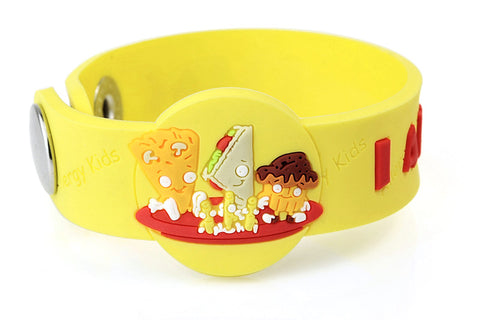 """I Am A Coeliac"" Children's medical alert Wristband - Gluten Free Bracelet"