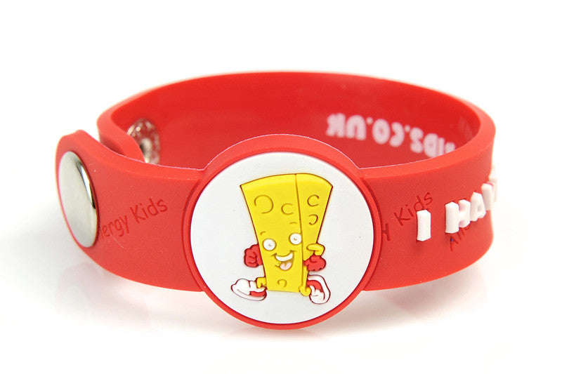 """I Have A Dairy Allergy"" medical alert bracelet for kids - allergypunk - 1"