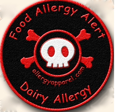 Dairy Allergy, Allergy alert patches - allergypunk