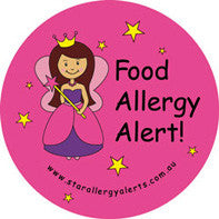 Fairy, Food allergy alert badge and sticker pack - allergypunk