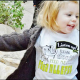 Short Sleeved White & Lime Food Allergy Alert T-shirt for Children