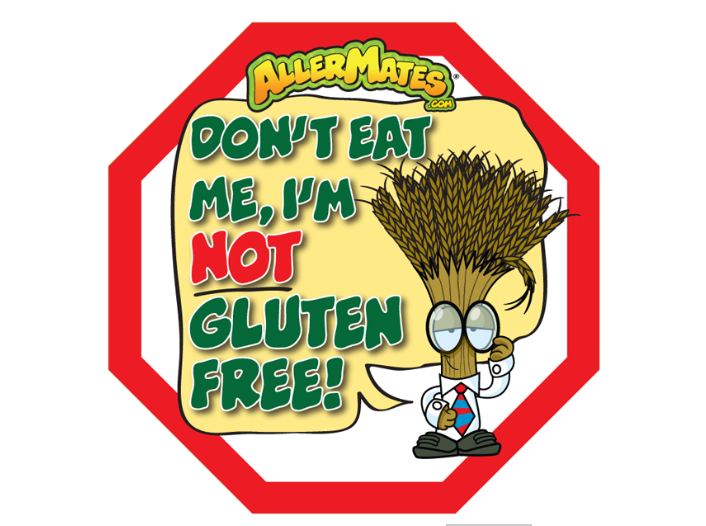 Stickers-Don't Eat Me, I'm NOT Gluten Free