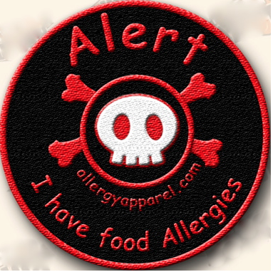 Allergy awareness-alert patches, I have food allergies - allergypunk