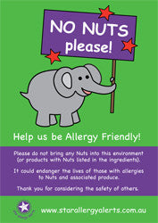 Allergy Awareness Poster - NO NUTS Please!